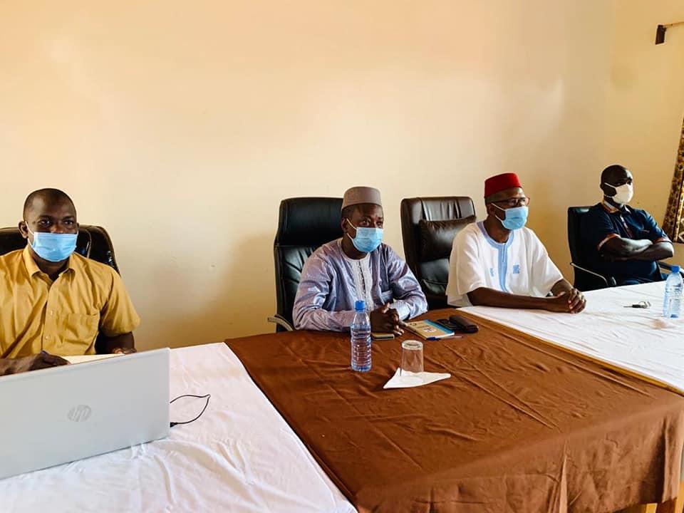 Le Maire de Ségou et l'équipe de la Fondation Festival sur le Niger participe à l'Assemblee Générale virtuelle du CGLU